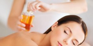 Aromatherapy massage with custom-blend essential oils