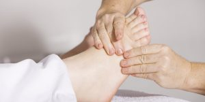 Foot massage or reflexology for home spa